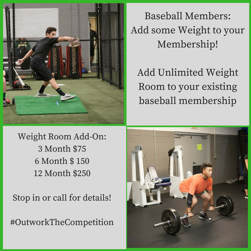 Baseball Weight Room Membership