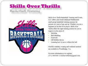 Skills Over Thrills flyer