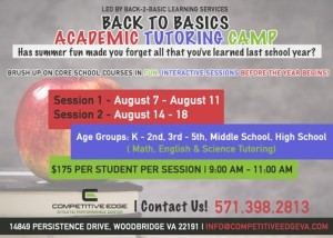 Tutoring camp