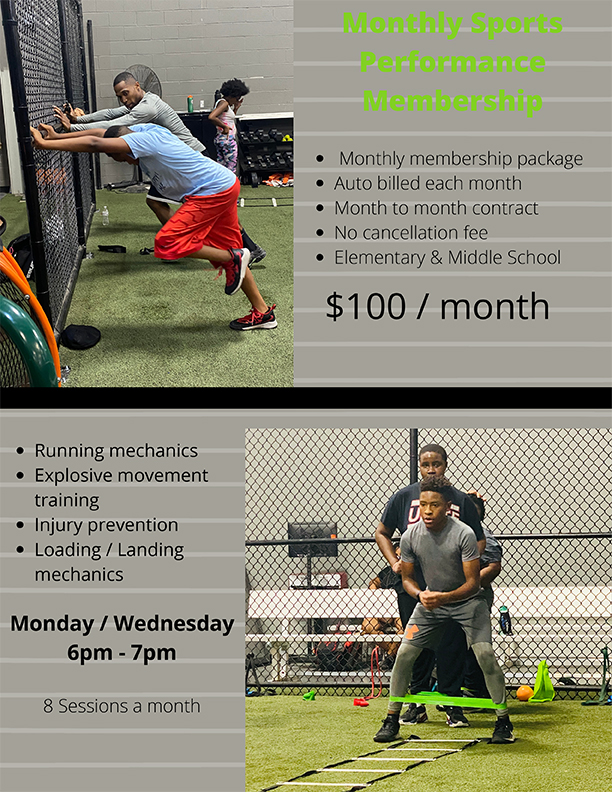 monthly sports performance package
